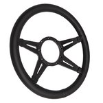 Steering Wheel Mark 9 EL Black 4 Spoke 14 Inch