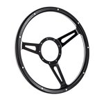 Black Steering Wheel Mark 7 Woody 3 Spoke/Slots 14 Inch