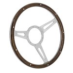 Steering Wheel Mark 7 Woody 3 Spoke/Slots 14 Inch