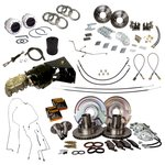 4 Wheel Power Disc Brake Master Kit Bumper to Bumper All New Brake Parts Everything Is Included 67-7