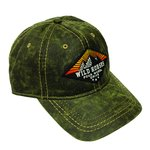 WH Diamond Sunrise Pigment Print Distressed Cap GREEN