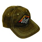 WH Diamond Sunrise Pigment Print Distressed Cap Brown