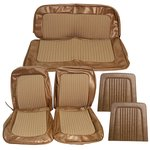 Houndstooth Seat Upholstery Cover Set Ginger