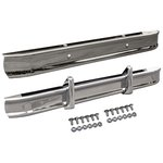 Front & Rear Chrome Bumpers & Bolt Kit & Front Bumperettes