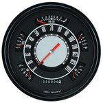 Classic Instruments Electronic Gauge Cluster black/orange 66-77 Bronco / 61-66 Pickup