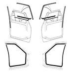 Door Seal Kit /Glass Runs/ Beltlines 10 Piece Kit