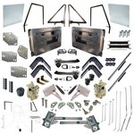 Master Driver & Passenger Door Kit 68-77 Sheet Metal/Glass/Attachments