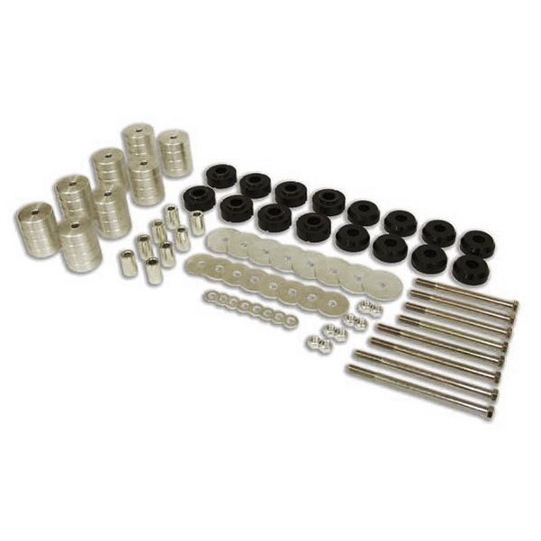 Billet Aluminum Deluxe Body Lift Kit 3-inch w/ Mounts Clear