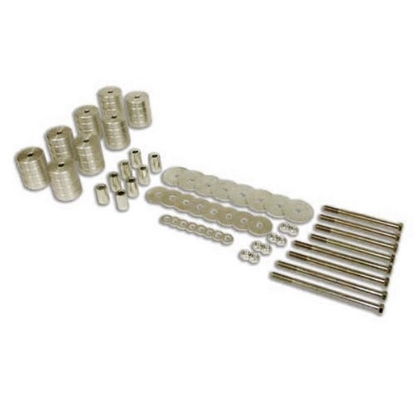 Billet Aluminum Body Lift Kit 3-inch Clear