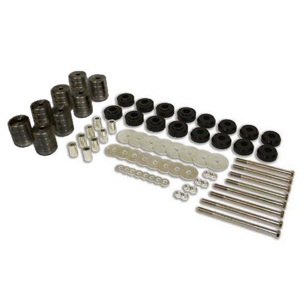 Billet Aluminum Deluxe Body Lift Kit 3-inch Black
