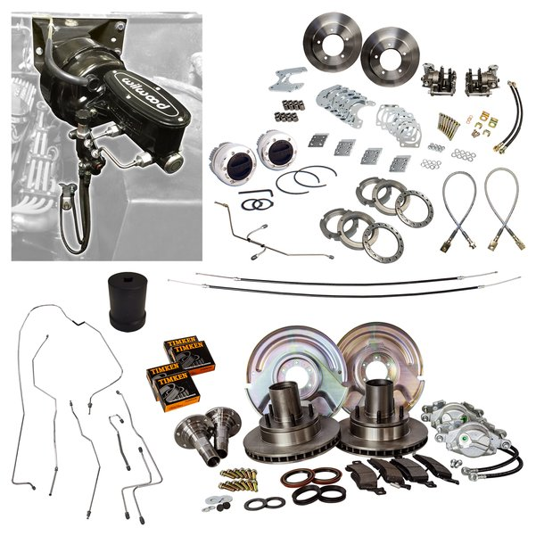 4 Wheel MOAB Vacuum Power Disc Brake Master Kit All New Brake Parts EVERYTHING Included 67-75 Bronco