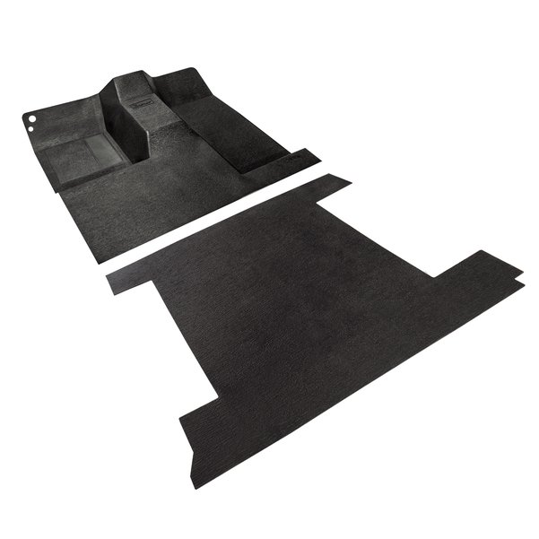 Bronco Sport Style Front to Back Rubber Floor Mat BLACK 66-76