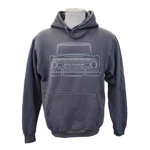 WH Bronco Silhouette Grey Hoodie