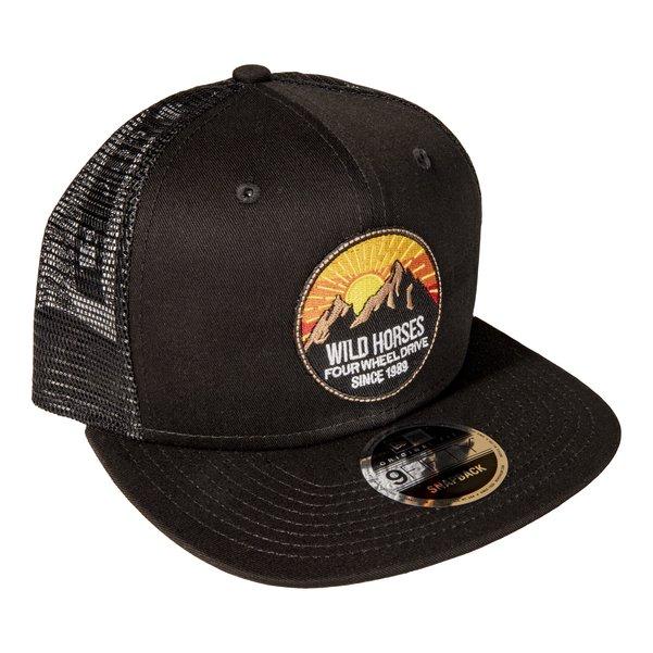 WH Rocky Black Snap Back Trucker Hat