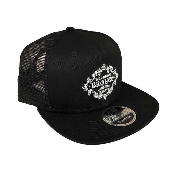 WH Retro Black Snap Back Trucker Hat