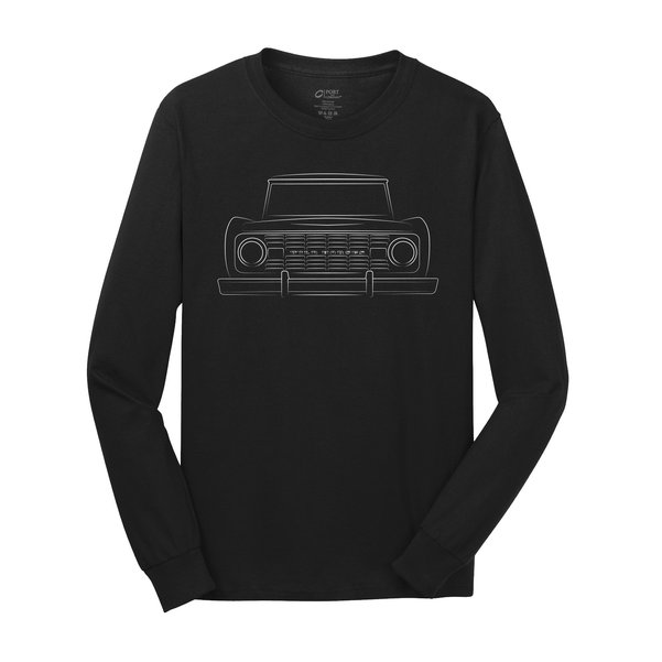 WH Bronco Silhouette Black Long Sleeve Tee Shirt