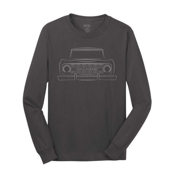 WH Bronco Silhouette Grey Long Sleeve Tee Shirt