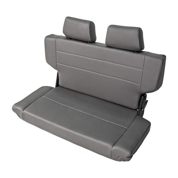 Rear Bench Seat Quick Fold With Dual Headrest 40 wide GREY