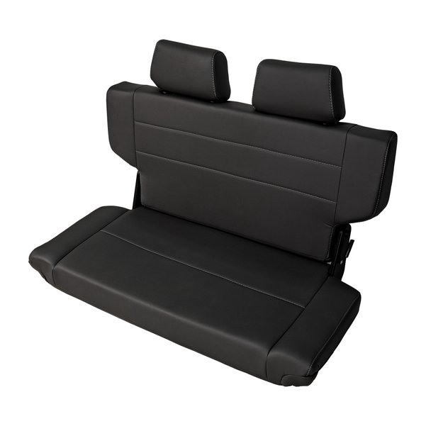 Rear Bench Seat Quick Fold With Dual Headrest 40 Wide BLACK