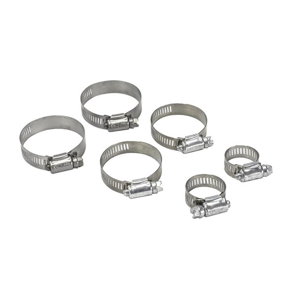 Radiator and Bypass Hose Clamp Set (6 clamps)