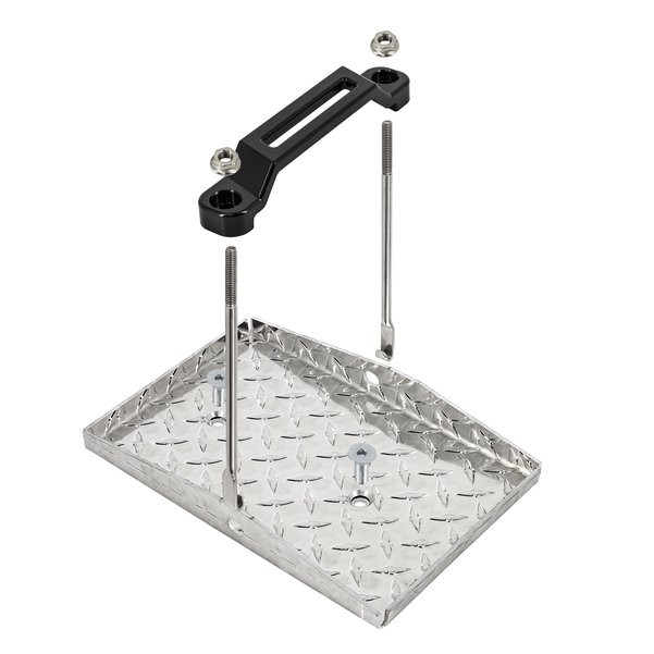 Deluxe Battery Tray Kit With Black Billet Hold Down