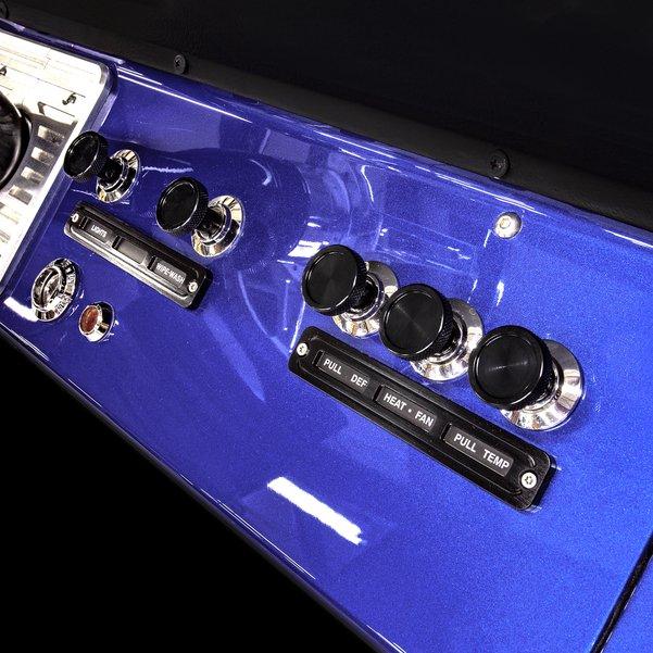 74-77 Bronco Dash Control Lights Billet Bezel Set BLACK