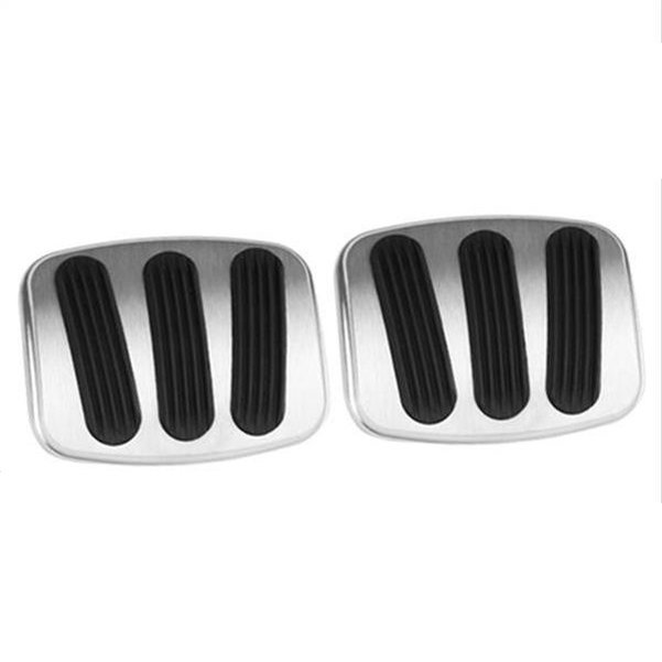 Lokar Billet Aluminum Curved Brake/Clutch Pedal Pad (pair) 66-77 Bronco Small