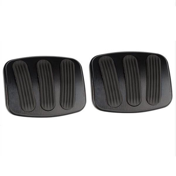 Lokar Billet Aluminum Curved Brake/Clutch Pedal Pad (pair) 66-77 Bronco Small - Black