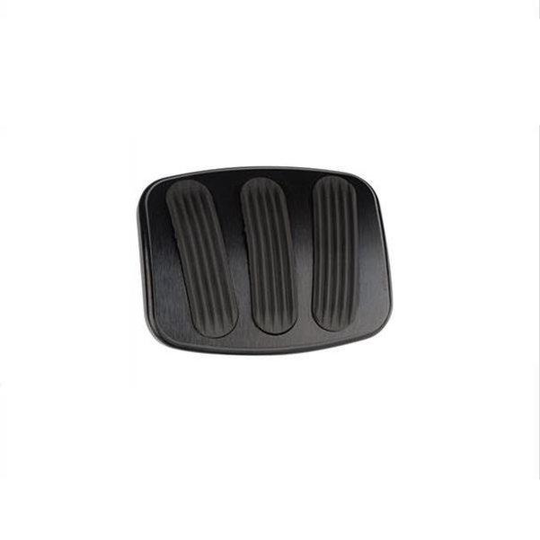 Lokar Billet Aluminum Curved Brake or Clutch Pedal Pad - Blk 66-77 Bronco Small - Single