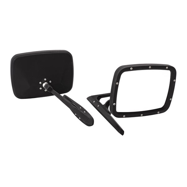 Billet Rides Door Mirror Set Flat Black