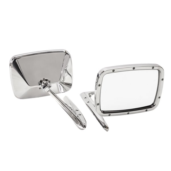 Billet Rides Door Mirror Set Polished