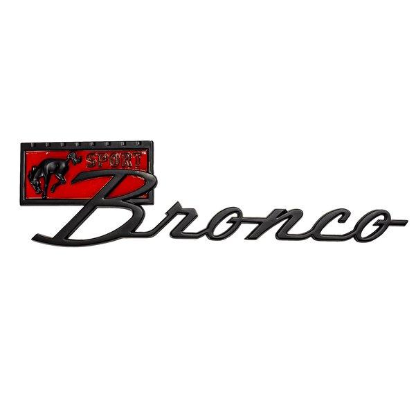 Black Finish 67-77 Bronco Sport Script