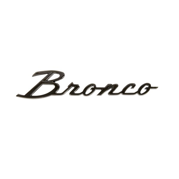 Black Chrome 66-77 Bronco Script w/ Clips